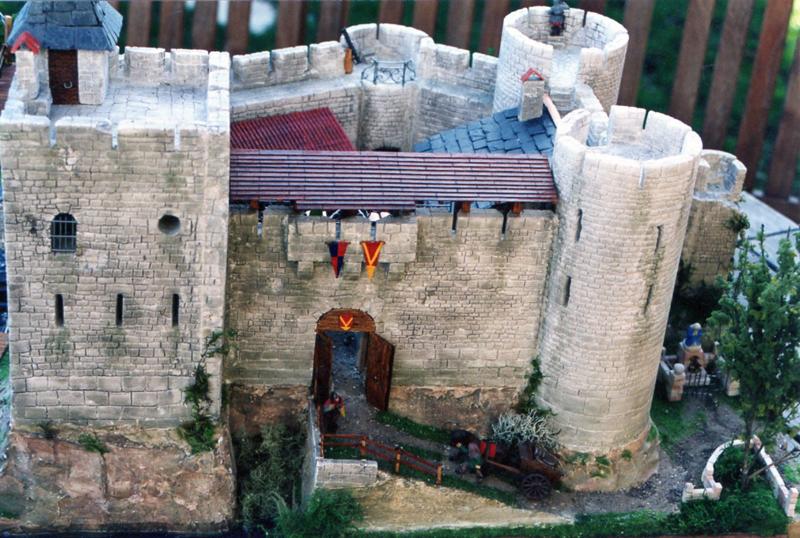 Vue de dessus chateau